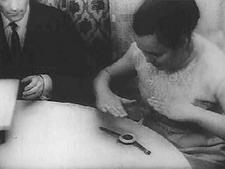 Вечером 15 января 1846 г. она и три деревенские девушки вышивали.  Внезапно рукоделье выпало.